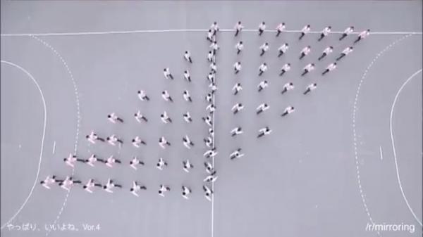 مسابقة المشي الدقيق في اليابان (فيديو)