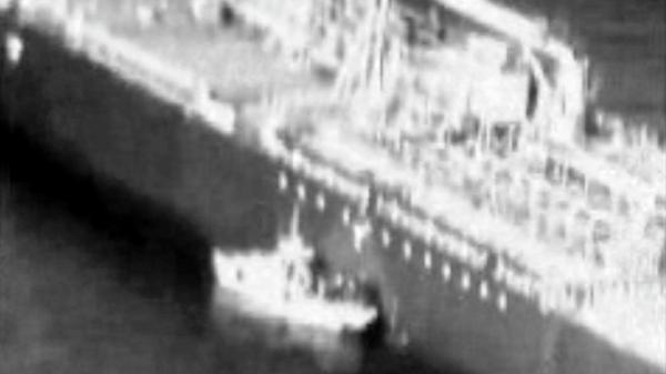 شاهد الفيديو الذي اعتبرته واشنطن دليل تورط إيران في هجوم خليج عمان