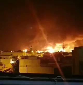 السعودية تعلن اخماد حريقين في معملمين بشركة ارامكو السعودية بعد استهدافها بطائرات مسيرة (فيديو)