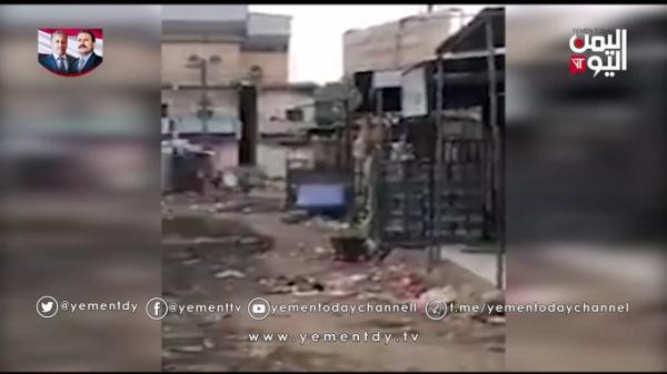 شاهد بالفيديو.. القوات المشتركة والمقاومة في سوق الفاخر وماجاوره بعد طرد الحوثيين