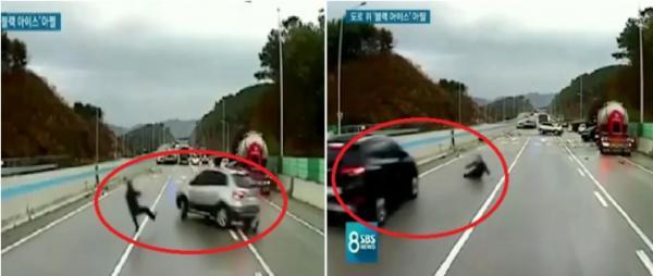 ما هو الجليد الأسود؟..و لماذا عرّض رجل نفسه للدهس من 21 سيارة؟ (فيديو)