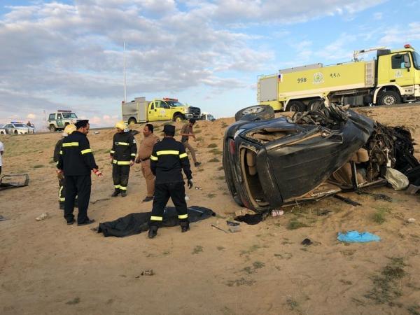 بالصور.. حادث مروري مروع في منطقة الباحة بالسعودية يروح ضحيته 13 شخص قتيل وجريح