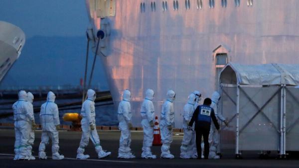 """ارتفاع عدد المصابين بفيروس كورونا على متن السفينة السياحية """"أميرة الماس"""""""