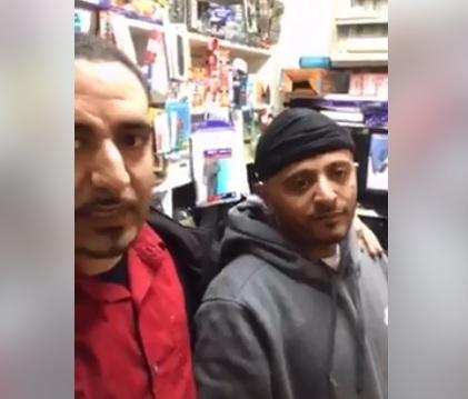 اشتباكات بالرصاص بين مغترب يمني في امريكا ومسلحين هاجموا محله ووقوع اصابات (فيديو)