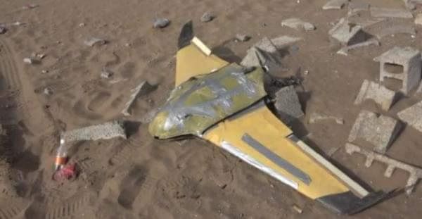 القوات المشتركة تعلن اسقاط طائرة بدون طيار بالحديدة