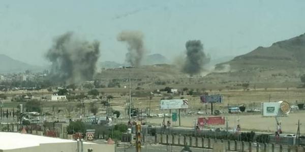 عاجل: التحالف يعلن سبب القصف العنيف على مواقع بصنعاء