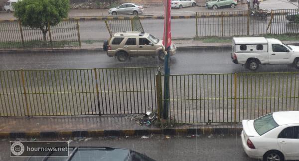 هطول امطار غزيرة على العاصمة صنعاء في هذه الاثناء (صورة)