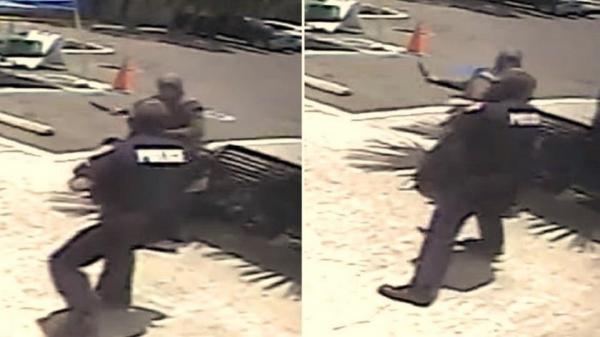 بالفيديو: ملثمة عربية تنقضّ على شرطي امريكي لمحاولة قتله فيرديها بالرصاص
