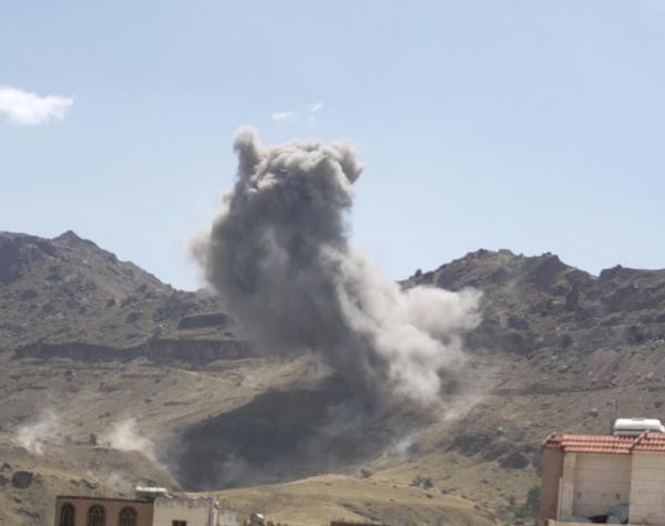 طيران التحالف يشن غارت عنيفة على صنعاء والسنة النيران تتصاعد (الاماكن المستهدفة)