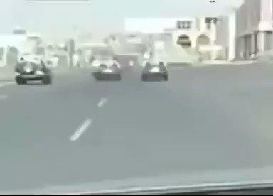 كاميرات ترصد مطاردة مثيرة في السعودية بين دوريات أمن وشاحنة (شاهد)