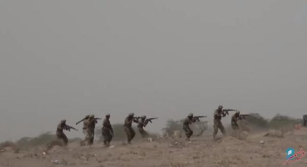 شاهد فيديو ظهور طارق صالح والقوسي في تمرين كبير بالذخيرة الحية بالساحل الغربي