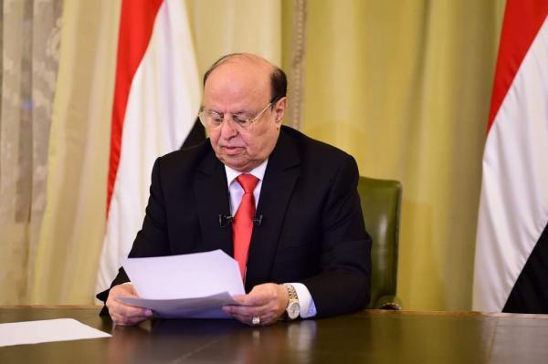 الرئيس هادي ينعى رحيل قائد امني كبير (الاسم)