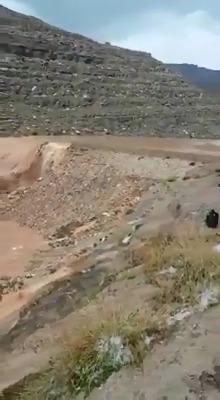فيديو لحظة انفجار سد الرونة بمدينة حبابة - مديرية ثلاء - عمران