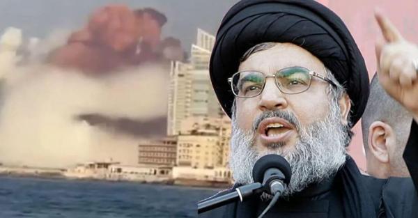 شاهد بالفيديو .. حسن نصر الله يتوقع انفجار بيروت قبل حدوثه !