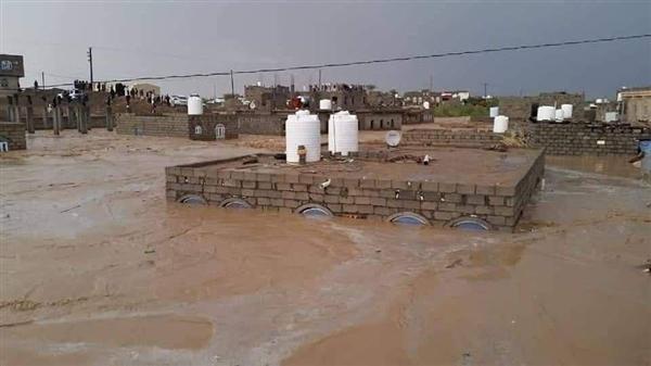 شاهد حجم الكارثة التي ضربت مأرب بسبب الامطار والسيول الغزيرة!
