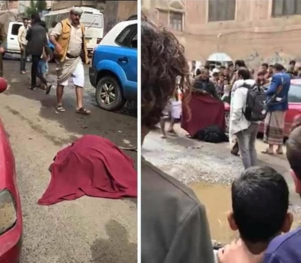 حادثة صادمة بصنعاء: شخص يقتل زوجته وابنه وسط الشارع وامام الناس (صورة)