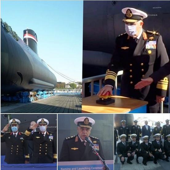 مصر تدشن الغواصة الرابعة إس-44