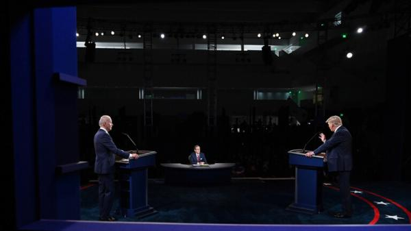 """ترامب وبايدن في أول مناظرة.. بايدن يستخدم جملة """"إن شاء الله"""" بالعربية وترامب: ابنك مدمن مخدرات"""