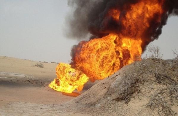إحبط محاولة تفجير أنبوب تصدير النفط الرئيسي في بيحان بشبوة