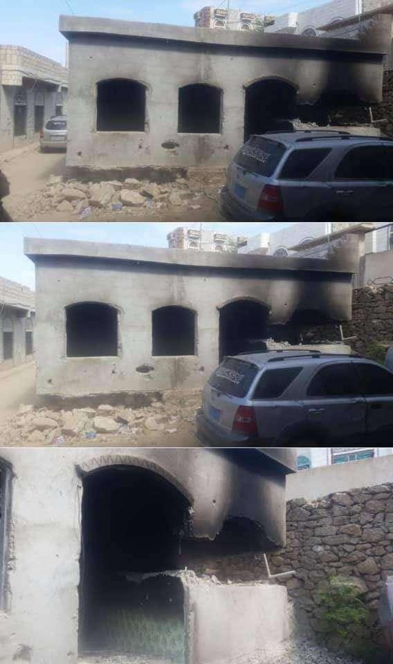 قائد عسكري في حزب الإصلاح يحاول حرق امرأة مع طفلها داخل منزلهم ويطلق الرصاص صوبهم