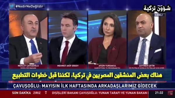 فيديو.. وزير الخارجية التركي: بلاده وجهت تحذيراً للإخوان والمعارضين للدول العربية
