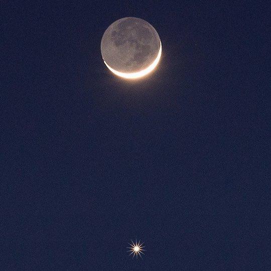 ظاهرة اقتران فلكية تحدث اليوم بعد غروب شمس السبت 12 يونيو