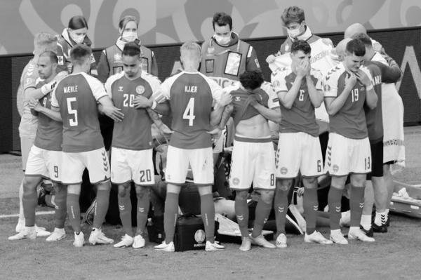 بطولة أوروبا: سقوط مفاجئ للاعب الدنمارك كريستيان إريكسن واجراء انعاش قلب له (فيديو)