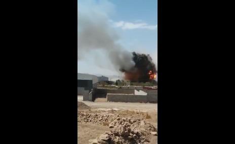 شاهد بالفيديو.. لحظة الانفجار الكبير الذي هزّ العاصمة صنعاء ظهر أمس الخميس