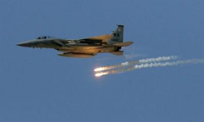طائرات التحالف تقصف صنعاء قبل قليل (المكان المستهدف)