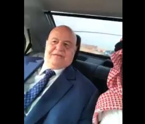 أول فيديو سيلفي للرئيس هادي هادي وهو يعلق على مناورات درع الخليج المشترك 1 بالسعودية
