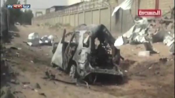 قناة تنشر أول فيديو لموقع استهداف #صالح_الصماد بغارات التحالف