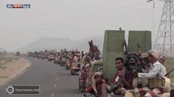 قناة سكاي نيوز العربية تنشر هذا الفيديو عن معركة الحديدة (شاهد)