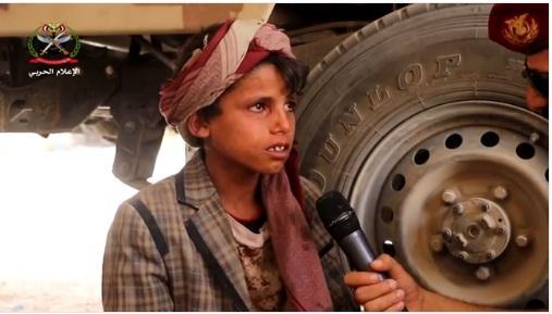 أسير حوثي طفل عمره 10 سنوات .. شاهد ماذا يقول عن ابيه وامه (فيديو مؤلم)