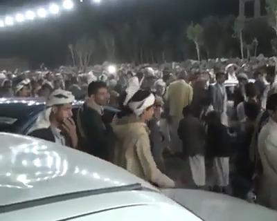 شاهد بالفيديو:  عرس في همدان صنعاء يتحول الى كارثه بسبب السلاح
