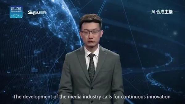 شاهد فيديو.. اول روبوت يذيع نشرة اخبار ويهدد مستقبل الإعلاميين