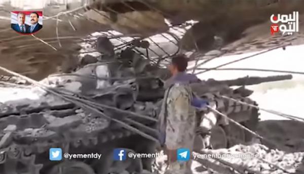 شاهد كيف استخدم الحوثيون حيلة ماكرة لمنع اكتشاف دباباتهم (فيديو)