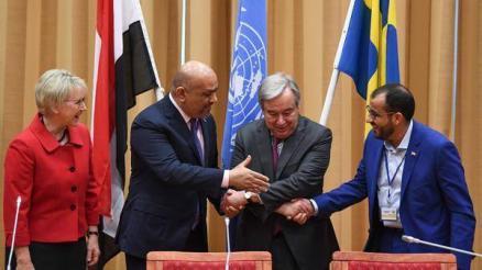 اليماني يكشف عما قاله للأمين العام للأمم المتحدة عندما حاول تقريبه ومحمد عبدالسلام للمصافحة (فيديو)