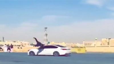 """شاهد.. القبض على 7 متورطين في فيديو دهس مغترب يمني بالعاصمة السعودية """"الرياض"""".. صورة"""
