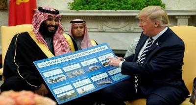 ما الذي أضحك محمد بن سلمان من كلام ترامب (فيديو)