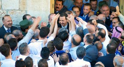فيديو جديد للرئيس بشار الأسد بعد الهجوم الثلاثي على بلاده