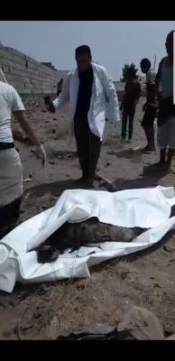 اول فيديو لجثة صالح الصماد وموقع الغارة الجوية التي قتل فيها