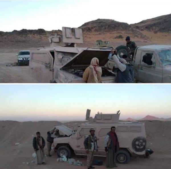 قوات الشرعية تستعيد عربات عسكرية كانت بقبضة مقاتلي الحوثيين
