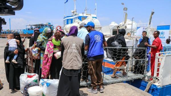 الهجرة الدولية تسهل عودة 160 مهاجرا إلى اثيوبيا عبر مطار عدن الدولي