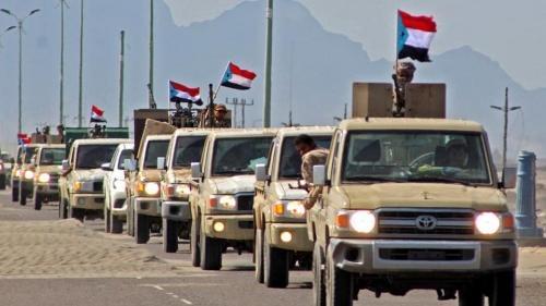 إنهاء التوتر بين قوات الشرعية والانتقالي الجنوبي في أبين بوساطة من ألوية العمالقة