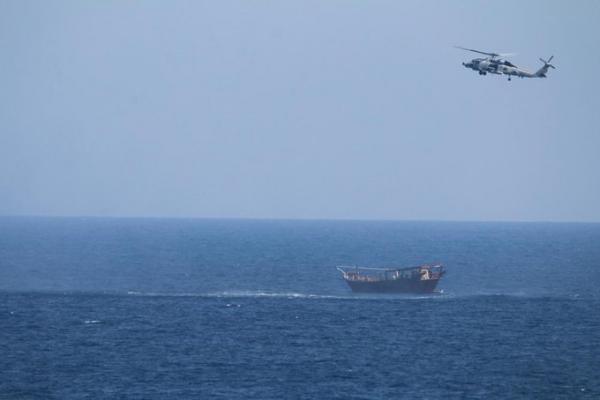 وزارة الدفاع الأمريكية: شحنة الأسلحة التي تم ضبطها في بحر العرب كانت قادمة من إيران للحوثيين